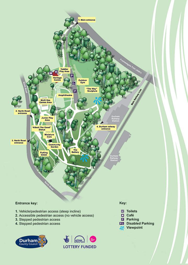 Wharton Park Map
