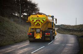 Gritter out on roads