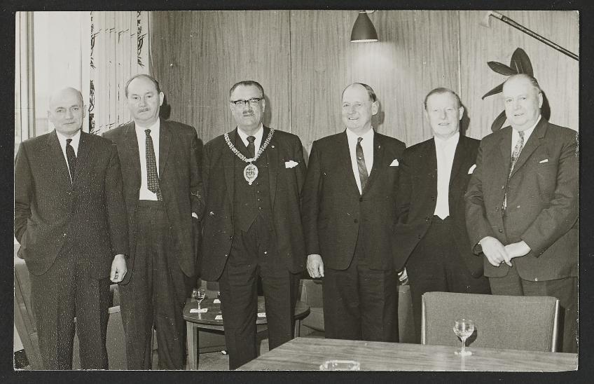 Chairman of Durham Council, Alderman Middlewood with visitors from Kostroma in 1969