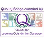 Quality Badge awarded by Council for Learning Outside the Classroom logo