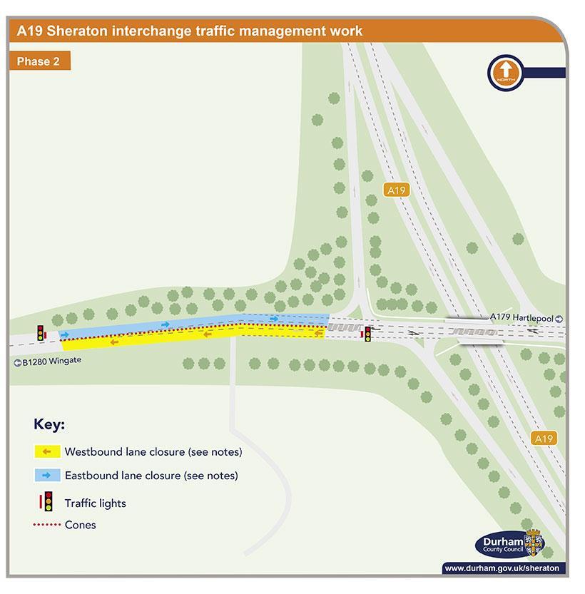 A19 Sheraton interchange traffic management work - phase 2