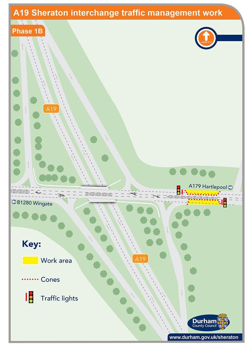 A19 Sheraton interchange traffic management work - phase 1b