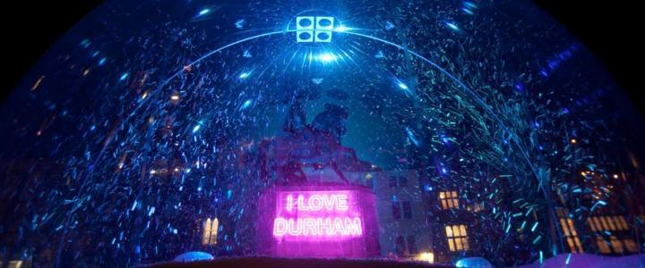 I Love Durham snowglobe - mobile version
