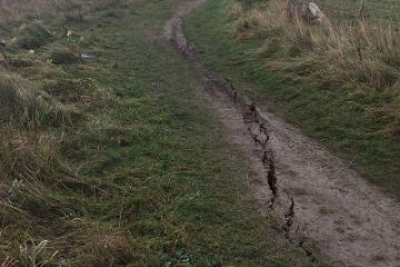 Coastal path rerouted after cracks lead to closure