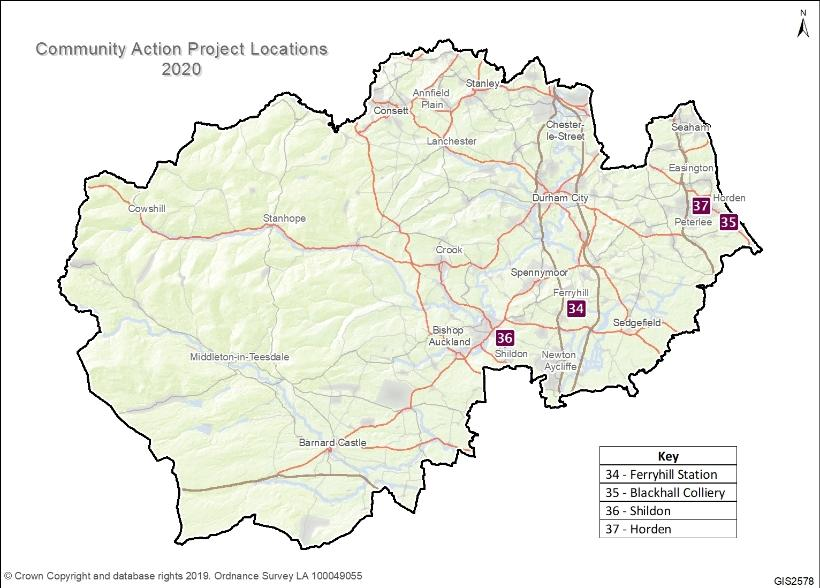 Community Action Project Locations 2020