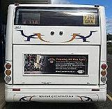 Advert on the back of a bus