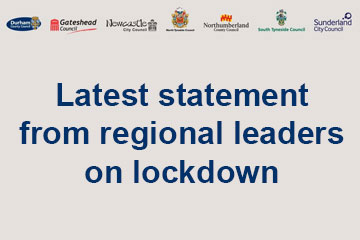 Latest statement from regional leaders on lockdown