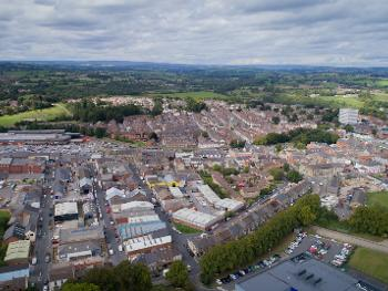 Bishop Auckland drone picture