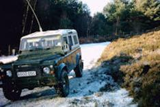 4x4 driving along a track