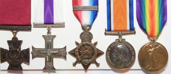 Five war medals including a Victoria Cross