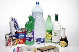 Various recyclable bottles