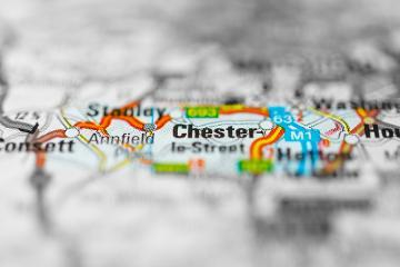 Map of Chester-le-Street