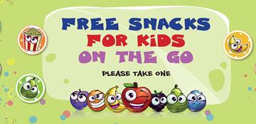 Free snacks for kids on the go