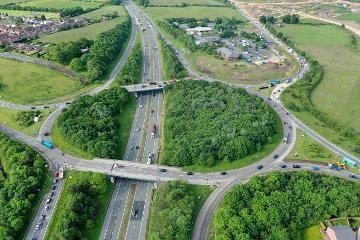 Aerial view of Junction 61