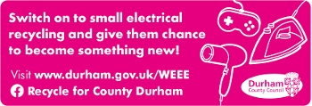 Switch on to small electrical recycling and give them chance to become something new! - mobile version