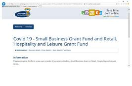 apply for a Small Business Grant Fund and Retail, Hospitality and Leisure Grant Fund