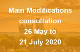Main Modifications consultation - 26 May to 21 July 2020