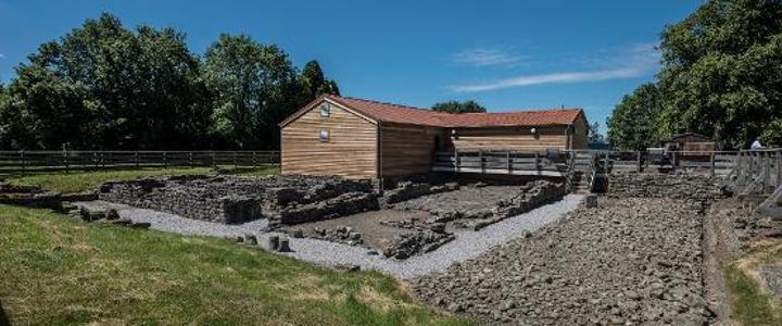 Outside Binchester Roman Fort