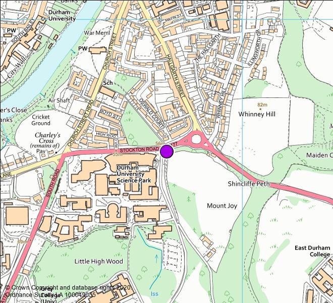 A177 Stockton Road camera location map