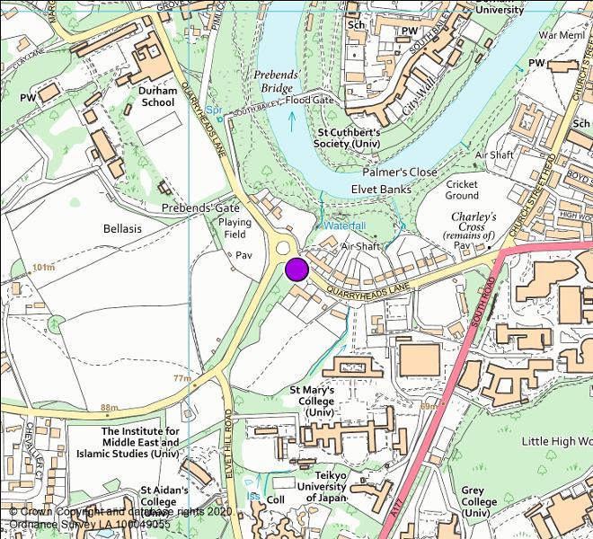 Quarryheads Lane roundabout camera location map