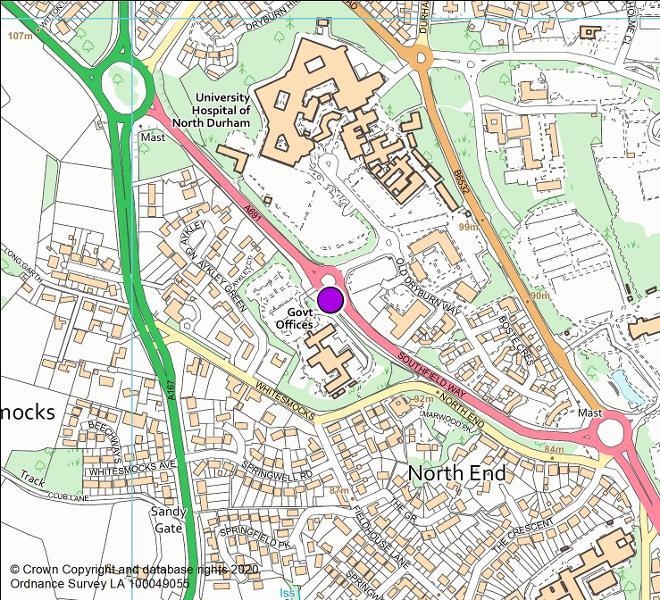 A691 Southfield Way camera location map