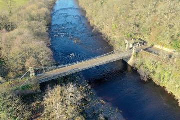 Aerial view of Whorlton Bridge