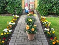 Entry to It's your neighbourhood, a floral display in Lindisfarne care home, Ouston