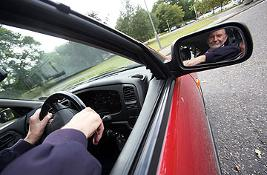 Person in car