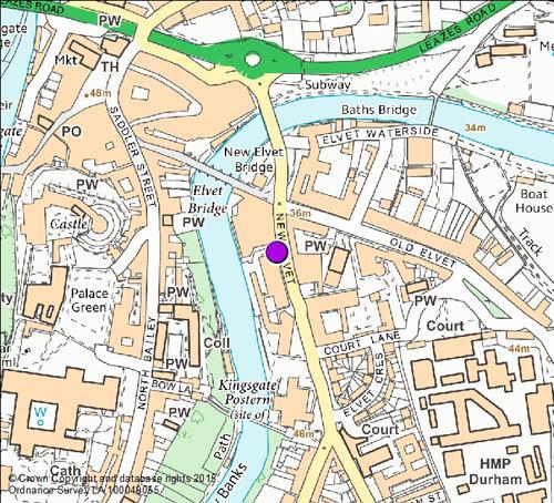New Elvet camera location map