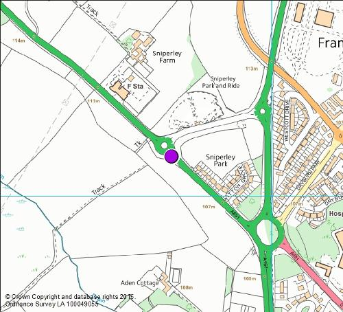 A691 Lanchester Road camera location map