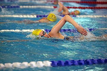 Man lane swimming