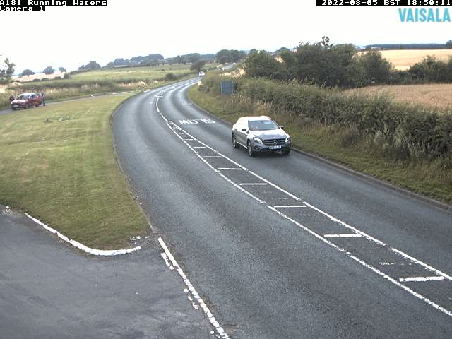 A181 Running Waters weather camera image